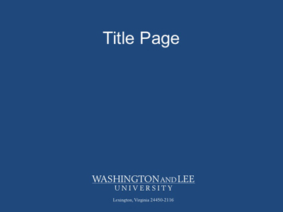 Powerpoint templates washington and lee university click on the image to download a powerpoint template toneelgroepblik Gallery