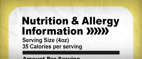 Nutrition & Allergy Information