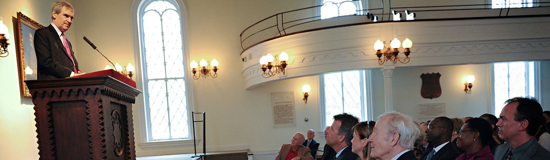Michael Ignatieff gives a lecture in Lee Chapel at Washington and Lee University