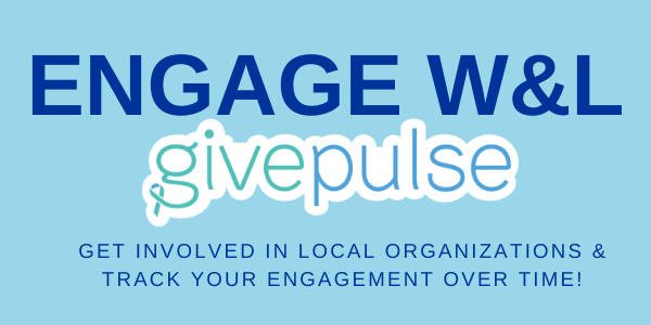 Engage W&L givepulse Get involved in local organizations and track your engagement over time