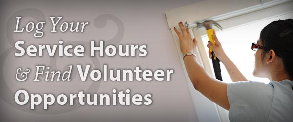 Log Your Service Hours & Find Volunteer Opportunities